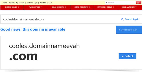 Domain name registration is available for this domain name.