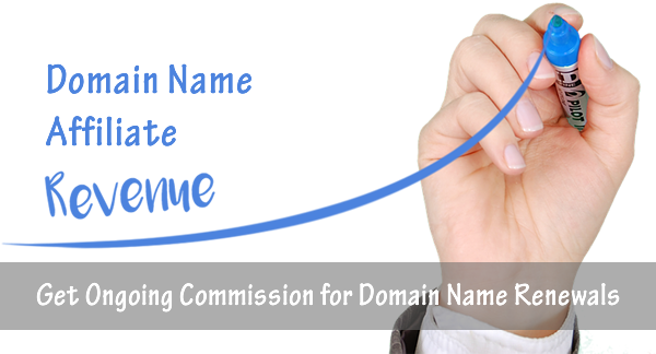 Domain Name Affiliate Program pays ongoing commissions for domain name renewals.