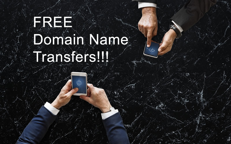 Domain Name Transfers Free of Transfer Charge Just Pay for Another Year of Domain Name Use.