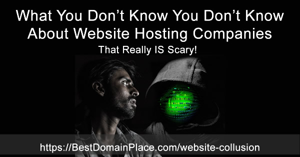 Website hosting company collusion and website hosting monopoly are very dangerous to the survival of your business.